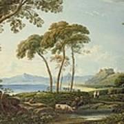 Landscape With Harlech Castle Art Print