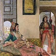 Life In The Harem - Cairo Art Print by John Frederick Lewis