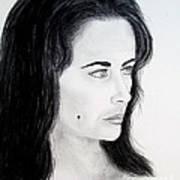 Liz Taylor Portrait Art Print