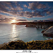 Lydstep Cliffs Sunset Art Print
