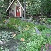 Magic Garden Pond Art Print