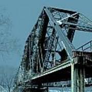 Mississippi River Rr Bridge At Memphis Art Print