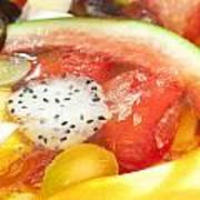 Mixed Fruit Watermelon Art Print by Anek Suwannaphoom