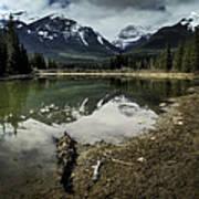 Muleshoe Pond Reflection Banff Art Print
