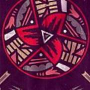 Native American Designs In The Round Art Print