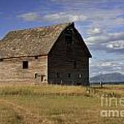 Old Big Sky Barn Art Print