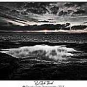 Red Rock Beach   Art Print