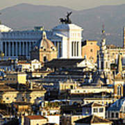 Rome's Rooftops Art Print
