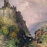 The Castle Of Katz On The Rhine Art Print