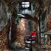 Time For A Cut- Barber Chair - Eastern State Penitentiary Art Print