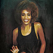 Whitney Elizabeth Houston Art Print
