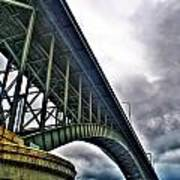 002 Stormy Skies Peace Bridge Series Art Print