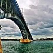 003 Stormy Skies Peace Bridge Series Art Print
