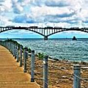 004 Stormy Skies Peace Bridge Series Art Print