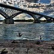 006 Peace Bridge Series II Beautiful Skies Art Print