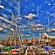 007 On A Summers Day  Erie Basin Marina Summer Series Art Print