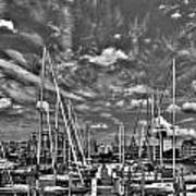 007bw On A Summers Day  Erie Basin Marina Summer Series Art Print
