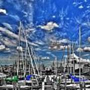 007sc On A Summers Day  Erie Basin Marina Summer Series Art Print