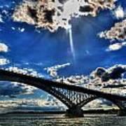 008 Peace Bridge Series II Beautiful Skies Art Print