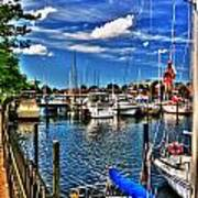 009 On A Summers Day  Erie Basin Marina Summer Series Art Print
