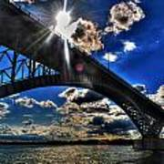 010  Peace Bridge Series II Beautiful Skies Art Print