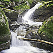 0804-0035 Cascade Above Triple Falls Art Print