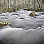 0804-0122 Rolling Creek Of The Ozark Mountains Art Print
