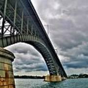 009 Stormy Skies Peace Bridge Series Art Print
