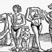 16th Century Woodcut Print Art Print