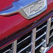 1955 Chevrolet Pickup Truck Grille Emblem Art Print