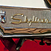 1957 Ford Skyliner Retractable Hardtop Emblem Art Print