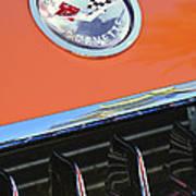 1958 Chevrolet Corvette Hood Emblem Art Print