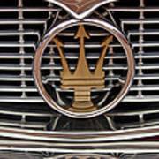 1960 Maserati 3500 Gt Coupe Emblem Art Print
