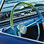 1961 Pontiac Catalina Steering Wheel Art Print