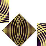 3 Square Art Print