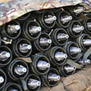 81mm Mortar Rounds Ready Stacked Ready Art Print