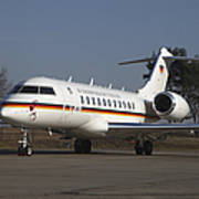 A Bombardier Global 5000 Vip Jet Art Print