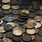 A Close View Of American Money Art Print
