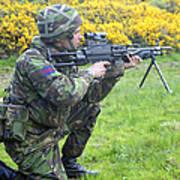 A Coldstream Guard Training In Scotland Art Print