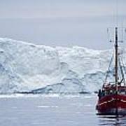 A Midnight Cruise Around The Ilulissat Art Print