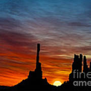 A New Day At The Totem Poles Art Print