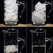 A Pitcher Of Ice Melts Over 4 Hours Art Print