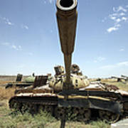 A Russian T-55 Main Battle Tank Art Print