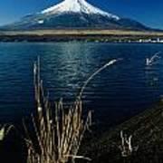 A Scenic View Of Mount Fuji Taken Art Print