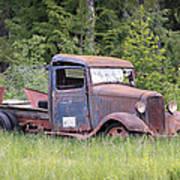 Abandoned Truck Art Print