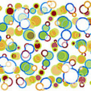 Abstract Circles Art Print by Frank Tschakert