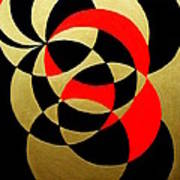 Abstract In Gold Black And Red Art Print