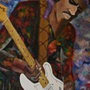 Abstract Jimi Hendrix Art Print