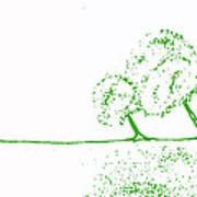 Abstract Tree Art By Shawna Erback Art Print