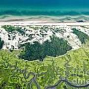 Aerial Vew Of Sandy Neck Beach In Barnstable On Cape Cod Massac Art Print